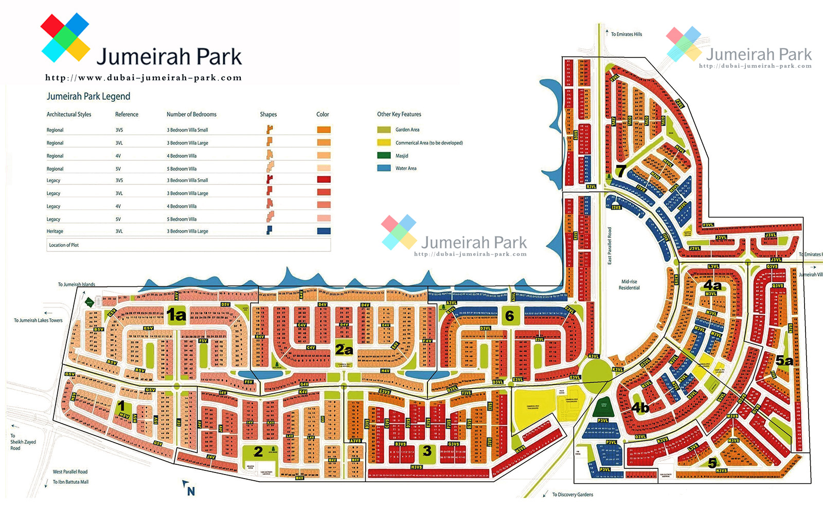 Jumeirah Park Master Plan Villas For Sale Amp Rent In